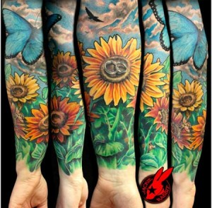 tatuaje de girasol-04
